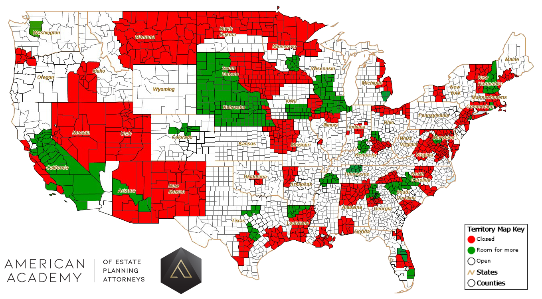 AA Territories Map